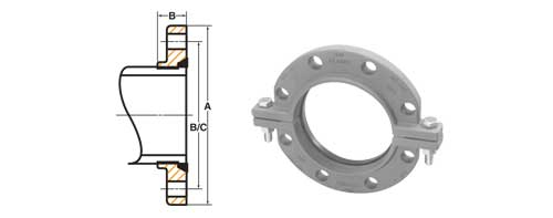 The Ford Meter Box Company Inc  6530061 6 in Ductile Iron Adapter Flanged