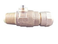CAMBRIDGE BRASS 6580275 3/4 in x 3/4 in Corporate Main Stop Valve AWWA x CB