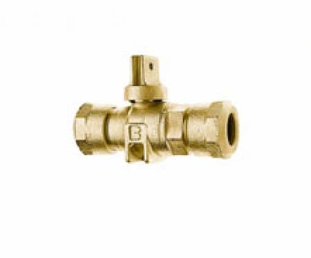 CAMBRIDGE BRASS 6581820 3/4 in x 3/4 in Ball Curb Stop Valve CB x CB